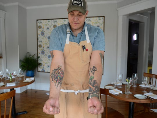 Matt Kern, Executive chef, at Heirloom in Lewes, Del.
