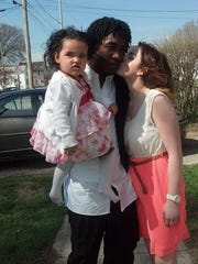 Chelsea Vasquez with Devin Liggins and daughter Kamiya.