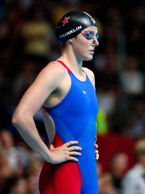 Missy Franklin before the women's backstroke 100m finals in the U.S. Olympic swimming team trials at CenturyLink Center.