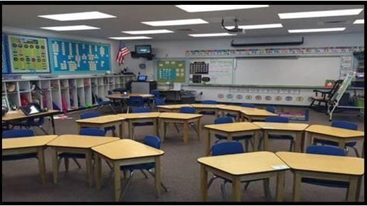 Santa Rosa Correctional Institution's cabinetry program provided 36 desks to Jay Elementary School.