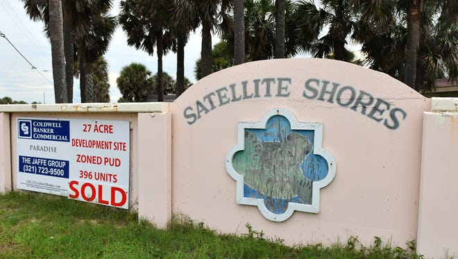 Satellite Shores was a 27-acre subdivision of over 100 homes originally built for Patrick Air Force Base housing. The property has been sold and is planned for an upscale, gated community.