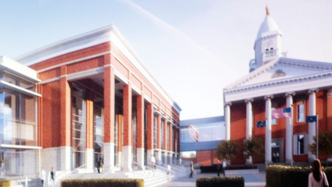 Computer illustrations of Franklin Courthouse plans were shown by architects from Noelker and Hull Associates, Chambersburg, and Silling Architects, Charleston, West Virginia.