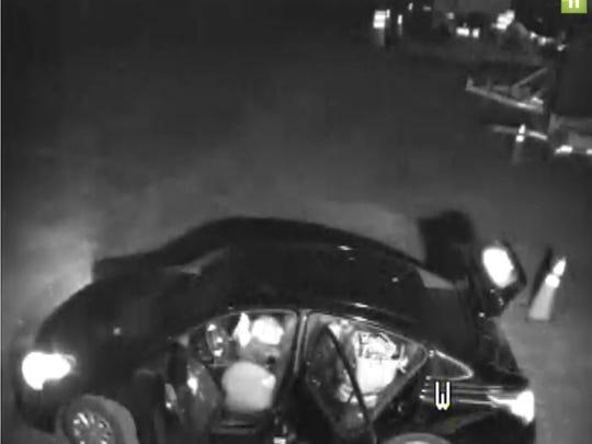 Surveillance footage of a Fishersville larceny suspect's
