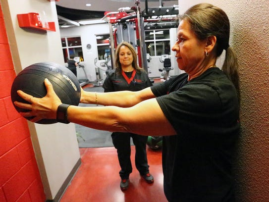 Melissa Ontiveros-Chavez trains with help from physical