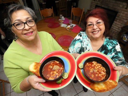 Estela Beltran, left, and Angie Rodriguez sampled menudo