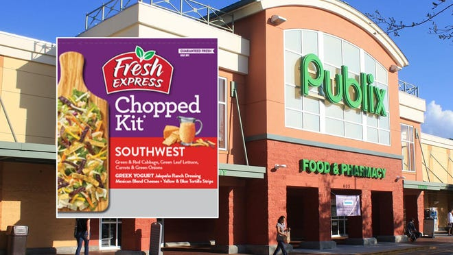 Publix is pulling a limited quantity Fresh Express Souhwest Chopped salad kits due to unlabeled nuts present that may trigger allergic reactions, the company said in a release.