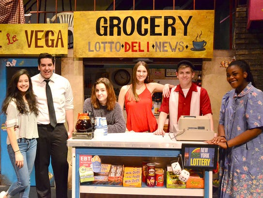 Cast members of  Wheatland-Chili High School's Drama