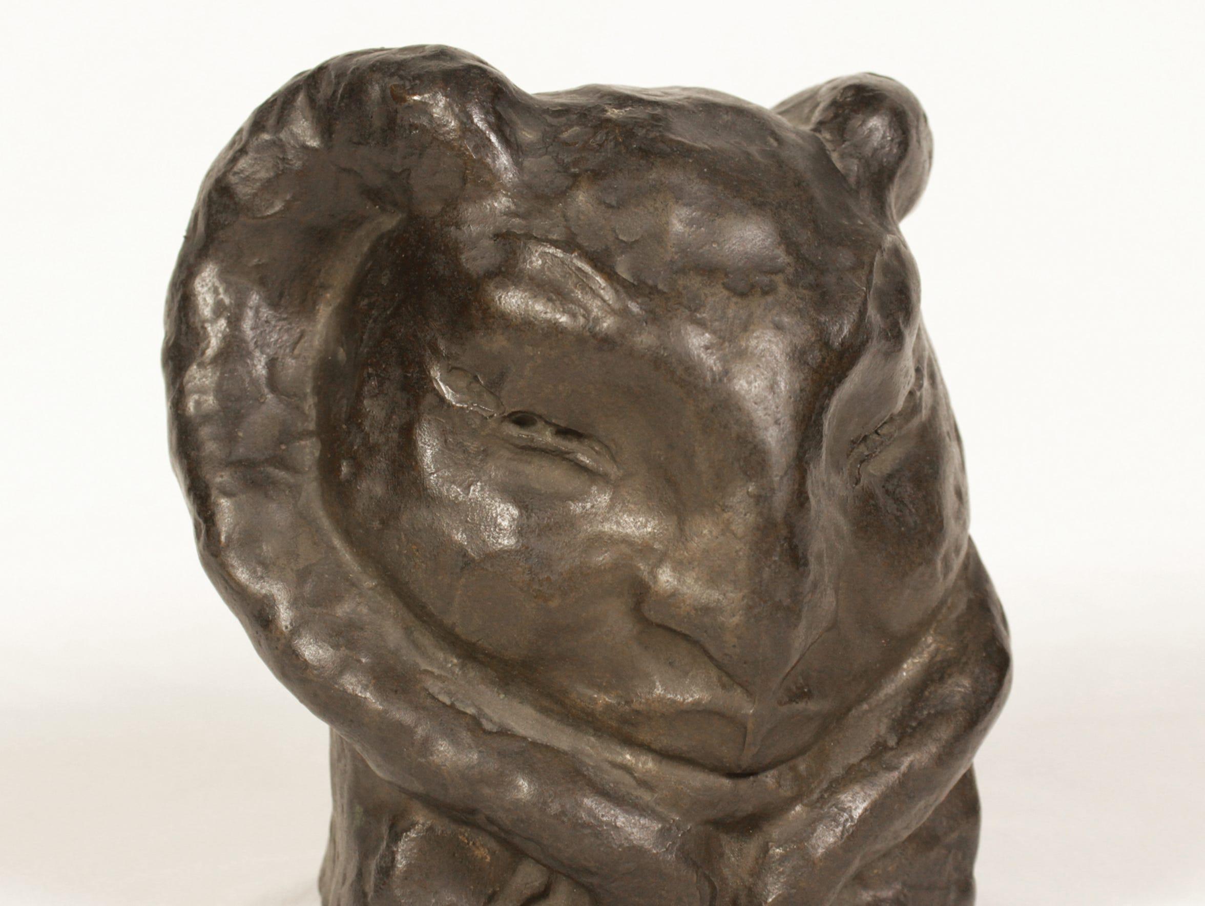 """""""Satyr"""" is a bronze Rose O'Neill sculpture made between"""