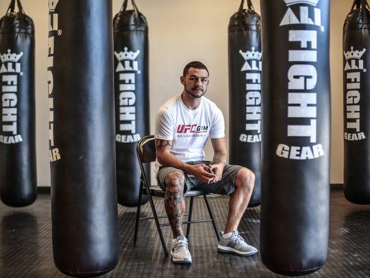 Cub Swanson at his training gym Tru MMA in Indio on