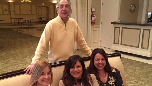 Nick Ristich with daughters Krista Schneider, Lisa Briones and Stephanie Kopinski.