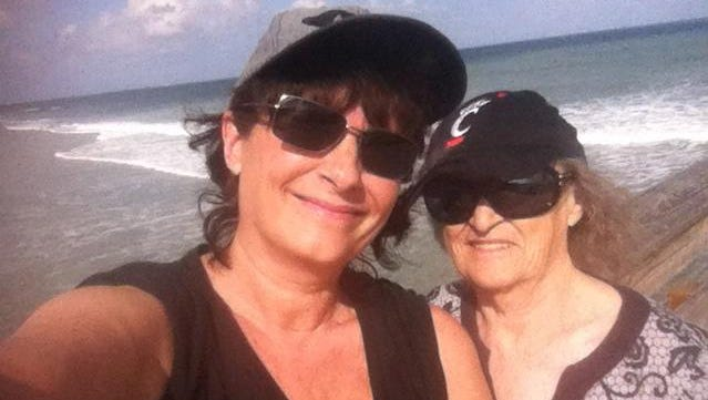 Britt Kennerly and her mother, Helen Harney, in Cocoa Beach