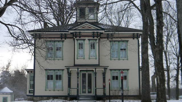 The Schofield House, built in 1880 by Robert Schofield, is a stately home on the Christmas Memories Tour of Homes in Greenwood.