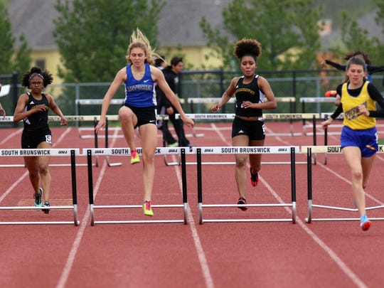Athletes compete at the GMC Relays on Tuesday.