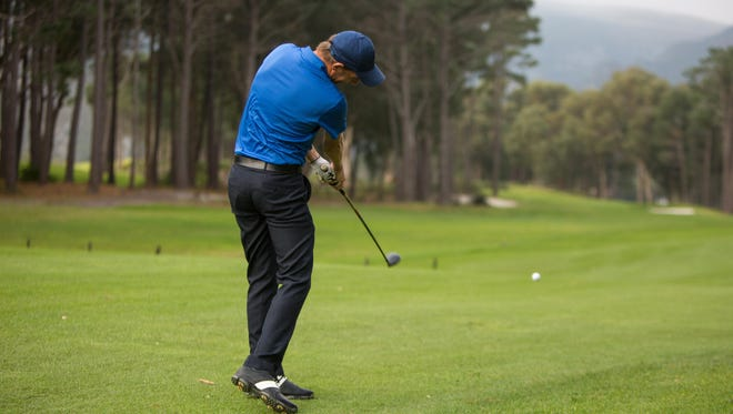 A lot of times when people hit the ball low with their driver it's being caused by the clubface being de-lofted at impact.