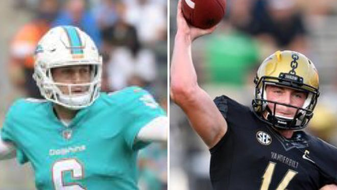 Jay Cutler, left, and Kyle Shurmur are two of the best quarterbacks in Vanderbilt history.