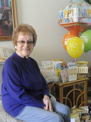 Mary Hadwin of Yerington celebrated her 100th birthday Nov. 10.