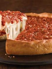 Giordano's deep-dish pizza.