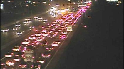 Backup trails for miles along I-17 in Phoenix  early Monday.