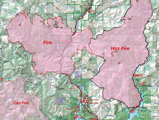 Wildfire update: I 5 still closed while Delta Fire burns into Hirz