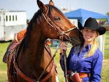 Running full-speed in role as Miss Rodeo Wisconsin