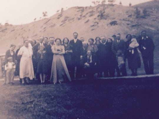 This photo is from Minnie Kolar's wedding to Joe Nyman in Wolf Butte on Nov. 23, 1937