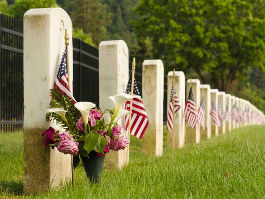 Veterans graves during Mermorial Day
