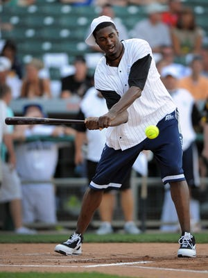 Usually among the event's headliners, Roy Hibbert is absent from Celebrity Softball Challenge's promotional poster.