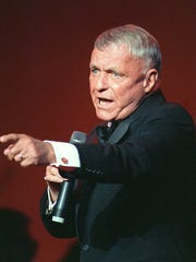 Frank Sinatra, shown performing in 1992 in Washington, D.C.