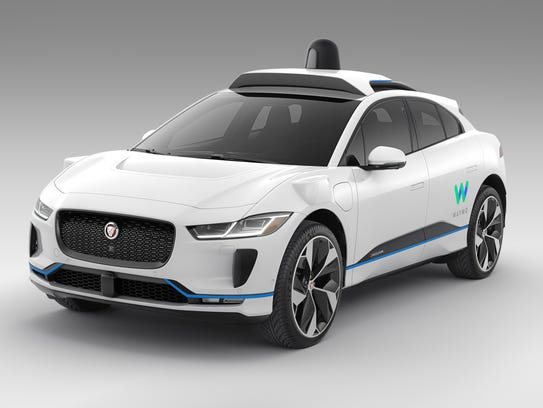 A Jaguar I-Pace electric SUV outfitted for service