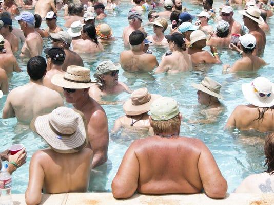 Attempt to break skinny-dip record at Shangri-La Ranch