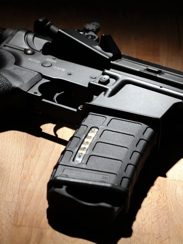 An AR-15 weapon.