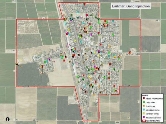 Earlimart injunction map