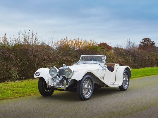 This 1938 Jaguar SS 100 will be shown at Gooding & Company in Scottsdale.