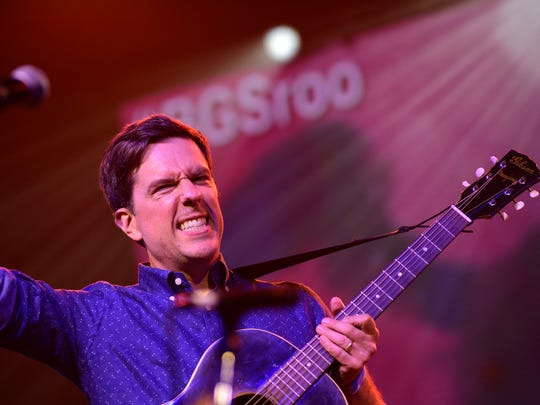 Ed Helms performs at the Bluegrass Situation Roots SuperJam at the Bonnaroo Music & Arts Festival in Manchester, Tenn., on June 11, 2017.