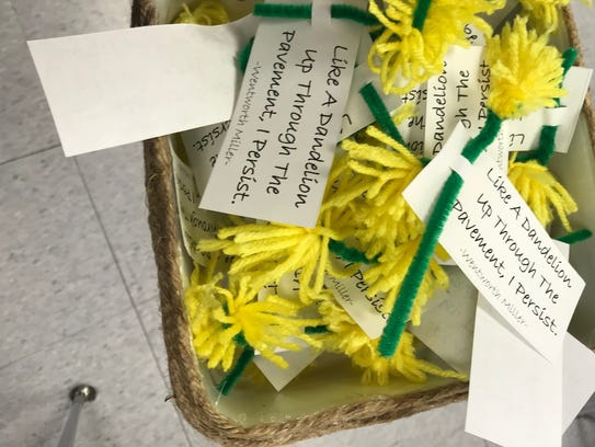 Finished dandelions are ready to deliver to the Hunterdon