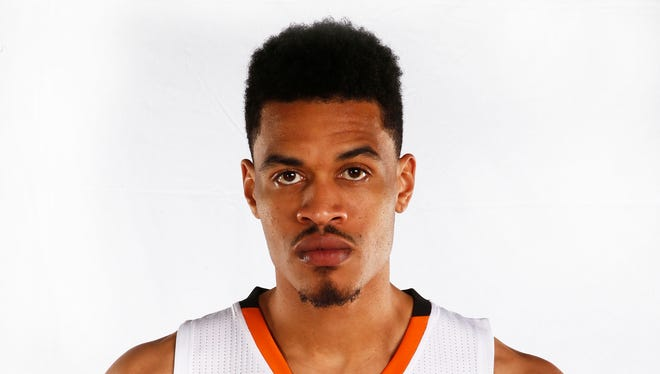 Phoenix Suns Gerald Green during media day on Monday, Sept. 29, 2014 at US Airways Arena in Phoenix, AZ.