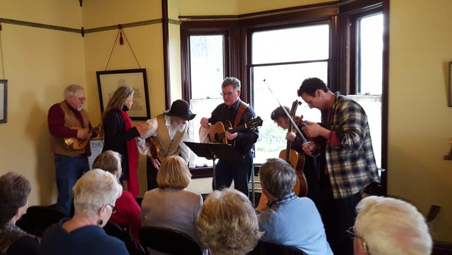 Musicians love the acoustics at the Brown House Event Center, where a number of area performers turned out for the Oregon Pioneer Spirit Folk Music Play-In held Sunday, Feb. 4.