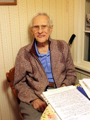 """Richard Brookins, the """"American St. Nick,"""" is now 95 years old and lives in Pittsford."""