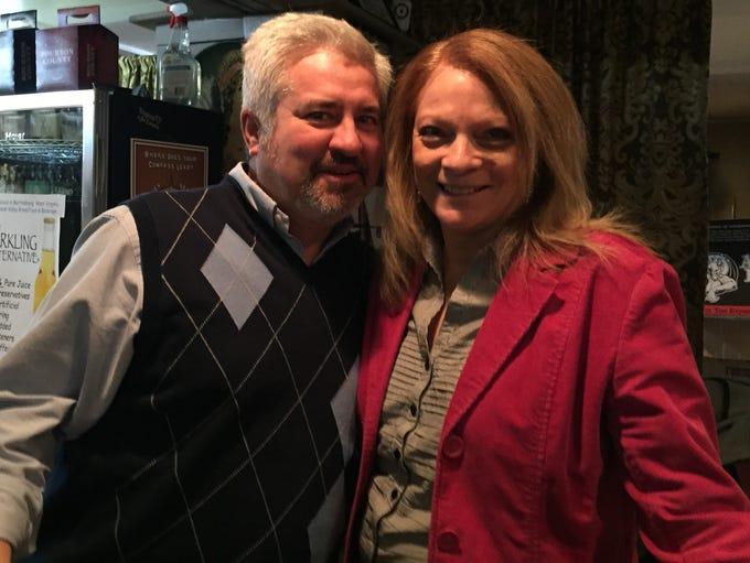 John and Cheryl Huggins, owners of Shenandoah Hops