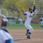 Dani Wagner of Havre delivers to home plate.