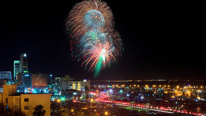 Brad Padgett's 8th floor Cliff House condo offers spectacular views of the bay front,  downtown and this year's 4th of July fireworks.