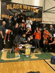 The Aztec wrestling team, seen here after winning the Blackwatch tournament on Dec. 28 in Upland, Calif., returns to the mat for Thursday's dual against Bayfield.