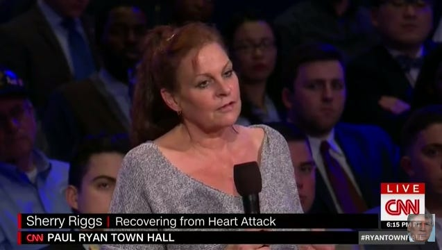 Sherry Riggs was featured on CNN's Town Hall with Speaker Paul Ryan on Thursday, Jan. 12, 2017.