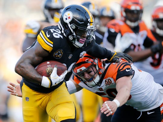 Pittsburgh Steelers running back Le'Veon Bell has given the Bengals defense fits all game.