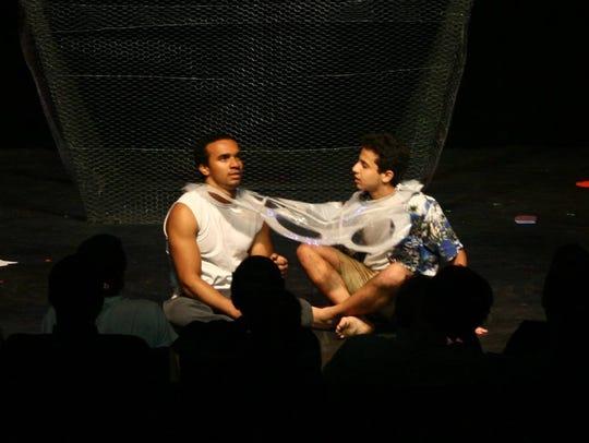 John-Michel Rousseau (left) and Sariel Toribio perform