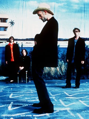 R.E.M. from left: Peter Buck, Mike Mills, Michael Stipe, Bill Berry