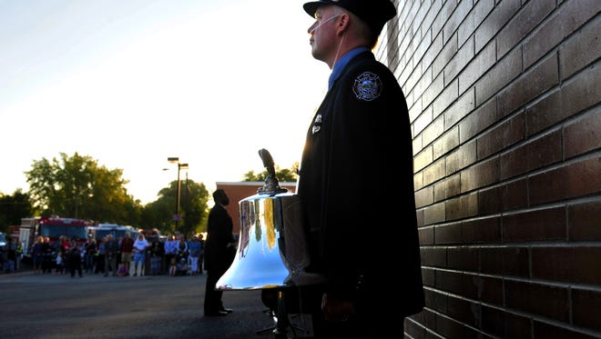 Great Falls firefighter Jason Baker helped organize the 9/11 memorial ceremony at Station 1.