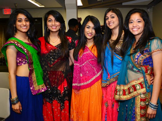 Priyal Patel, Dj Patel, Jaina Patel, Danielle Le and Tashim Mridha at the 2014 Miss Multicultural Pageant at UWF.