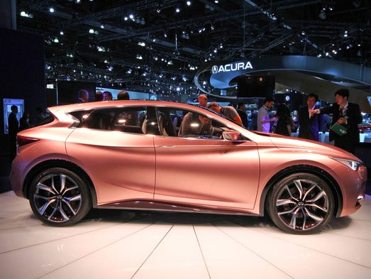 The Infiniti Q30 concept car was on display at the L.A. Auto Show in Los Angeles in 2013