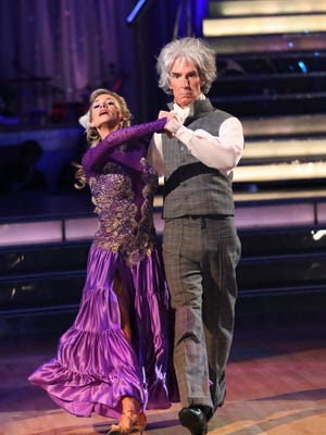 Bill Nye played Beethoven in his Monday night paso doble with pro partner Tyne Stecklein.